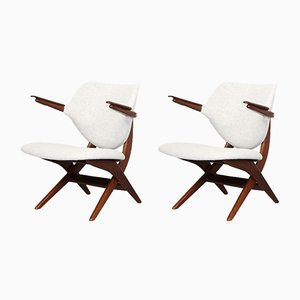 Vintage Pelican Lounge Chairs by Louis van Teeffelen for WéBé, Set of 2