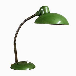 German Industrial Bauhaus Green Desk Lamp from SIS, 1950s