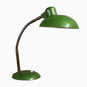 Lámpara de escritorio industrial Bauhaus alemana verde de SIS, años 50