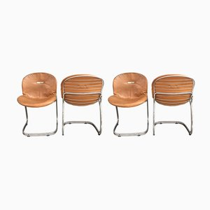 Sabrina Chairs by Gastone Rinaldi for Rima, 1970s, Set of 4