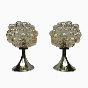 Bubbleglass Tischleuchten von Helena Tynell für Limburg, 1960er, 2er Set