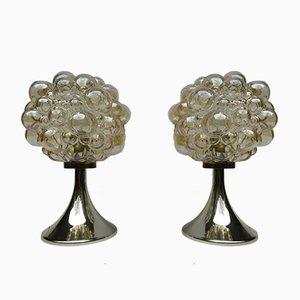 Lampade da tavolo in vetro a bolle di Helena Tynell per Limburg, anni '60, set di 2