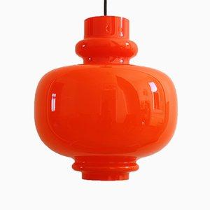 Lámpara colgante era espacial vintage de vidrio de Staff