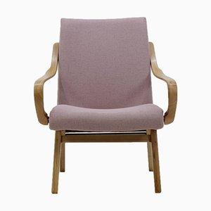 Czechoslovakian Beech Bentwood Lounge Chair, 1960s