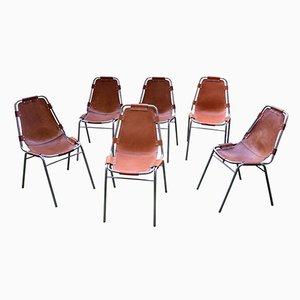 Vintage Les Arcs Stühle von Charlotte Perriand, 6er Set