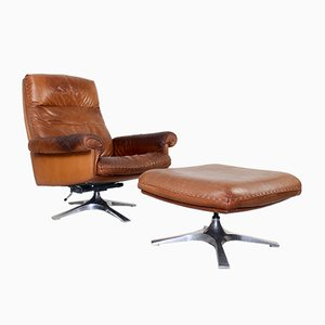 Vintage DS 31 Swivel Lounge Chair and Ottoman from de Sede, 1970s