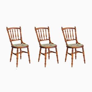Schwedische Vintage Stühle, 3er Set