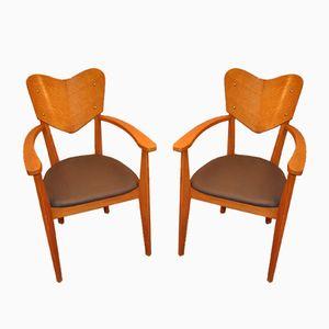 Vintage Bridge Chairs by René Jean Caillette, Set of 2