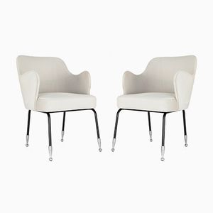 Italian Curved Armchairs, 1950s, Set of 2
