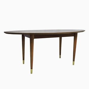 Mid-Century Oval Coffee Table
