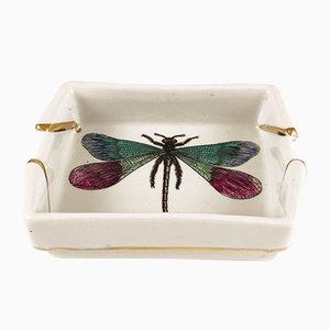 Posacenere vintage con libellula di Piero Fornasetti