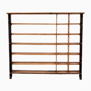19th Century Swedish Rustic Black Shelving Unit