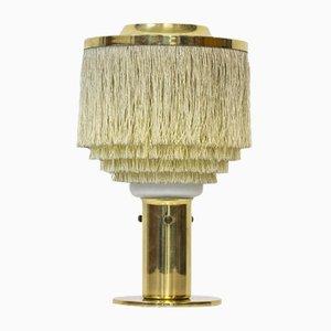Lámpara de mesa sueca con flecos de seda de Hans-Agne Jakobsson, años 60