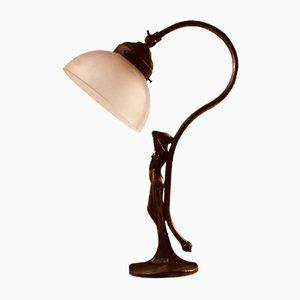 Lampe de Bureau Art Déco en Bronze, France