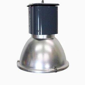Industrielle Vintage Loft-Lampe in Grau & Blau