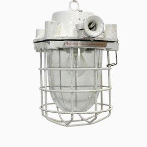 Petit Plafonnier de Loft Industriel Vintage en Blanc