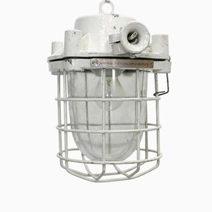 Vintage Small White Industrial Loft Ceiling Lamp