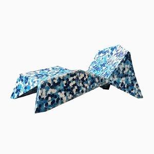 Chaise Longue Alex azul de Alessandro Mendini para ecopixel