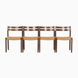 Model 401 Dining Chairs by Jorgen Henrik Møller for J.L. Møller, 1974, Set of 4