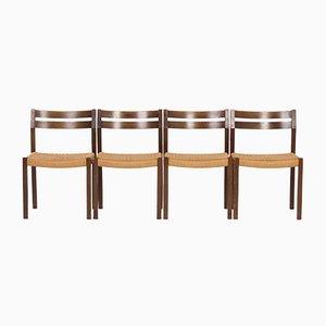 Modell 401 Esszimmerstühle von Jorgen Henrik Møller für J.L. Møller, 1974, 4er Set