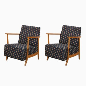Sessel mit Holzgestellen, 1950er, 2er Set