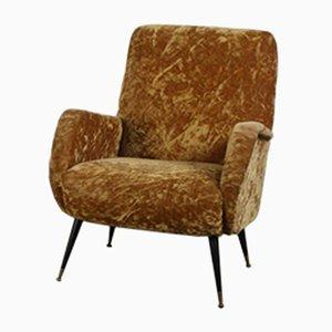 Light Brown Fabric Lounge Chair, 1960s