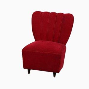 Roter Italienischer Sessel, 1940er