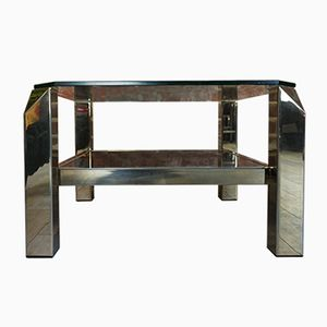 Vintage Square Gilded Coffee Table from Belgo Chrom