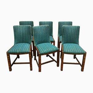 Chaises de Salon Vintage en Acajou, Set de 6