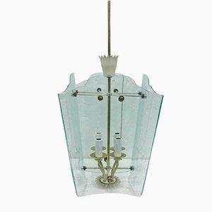 Lampada a sospensione a forma di lanterna di Pietro Chiesa per Fontana Arte, anni '30