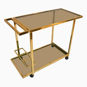 Vintage Bar Cart in Brass