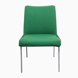 Dispo 8 Grass Green Hopsak & Chrome Chair from Mauser, 1960s