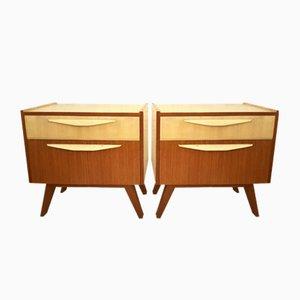 Tables de Chevet en Teck, 1950s, Set de 2