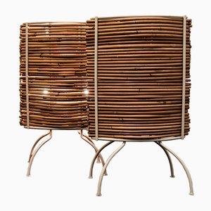 Lámparas de mesa de bambú de Fernando & Humberto Campana para Candle, 2000. Juego de 2