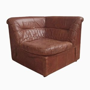 Leather Corner Chair, 1980s