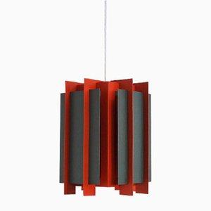 Lámpara colgante danesa octagonal de Lyfa, años 60