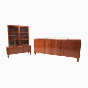 Art Deco Sideboard & Buffet Set, 1930s