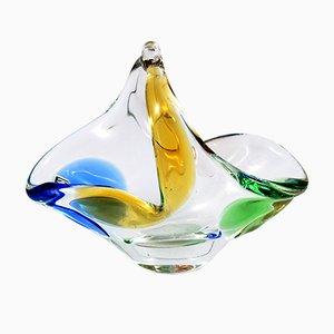 Rhapsody Glasschale von Frantiska Zemek für Mstisov, 1960er