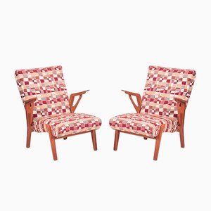 Mid-Century Oak Armchairs by Bohumil Landsman, 1960s, Set of 2