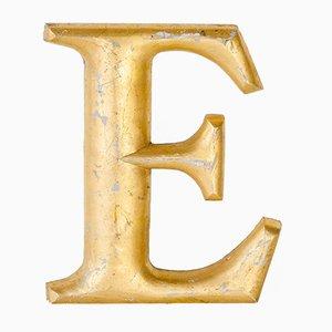 Goldener Vintage Buchstabe E