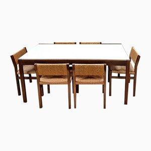 Tavolo da pranzo vintage di Cees Braakman per Pastoe con 7 sedie di Martin Visser per 't Spectrum