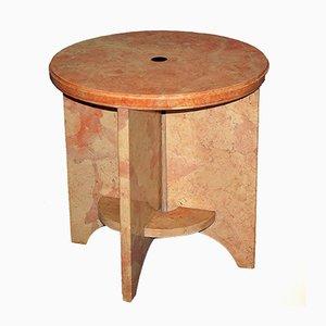 Tavolino vintage su piedistallo