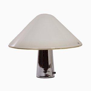 Lampada a forma di fungo bianca di Guzzini, anni '70