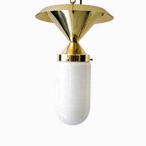Art Deco Deckenlampe mit Glas