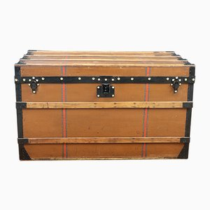 Antique Brown Canvas Trunk by Louis Vuitton