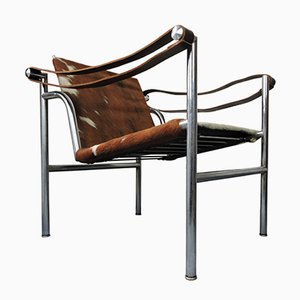 Mid-Century Italian Cowhide Chair by Le Corbusier for Cassina
