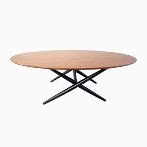 Table Basse Ovalette Ancienne par Ilmari Tapiovaara pour Asko Oy Lahti, 1953