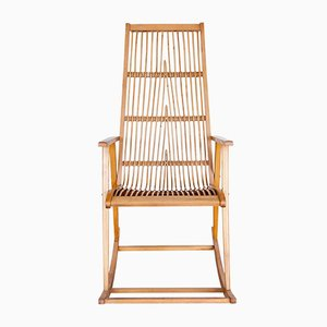 Mid-Century German Rattan Rocking Chair, 1960s