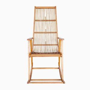 Mid-Century German Rattan Rocking Chair, 1960s