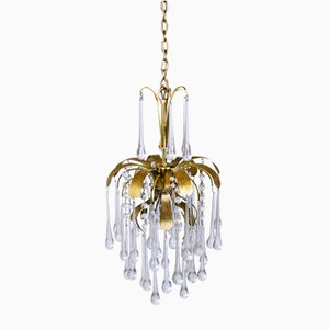 Vintage Murano Glass Tear Drop Pendant Light from Palwa, 1970s